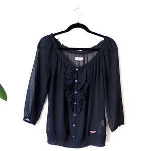 Hollister sheer blouse